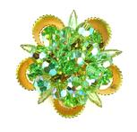 DeLizza & Elster Juliana Green Rhinestone and Faceted Dangle Beads Brooch
