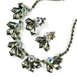 DeLizza and Elster Juliana Gray Frosted Kite Stones Necklace and Earrings