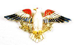 ART enameled eagle pin
